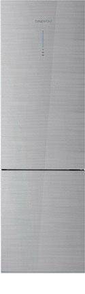 Двухкамерный холодильник Daewoo RNV 3610 GCHS серебристое стекло холодильник daewoo fgk51efg двухкамерный серебристый