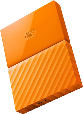 Внешний жесткий диск (HDD) Western Digital Original USB 3.0 1Tb WDBBEX 0010 BYL-EEUE My Passport 2.5'' желтый