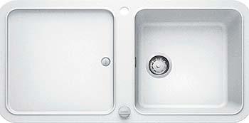 Кухонная мойка BLANCO YOVA XL 6S SILGRANIT белый с клапаном-автоматом InFino 523598 мойка кухонная blanco elon xl 6 s шампань с клапаном автоматом 518741