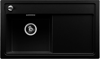 Кухонная мойка BLANCO 523819 ZENAR 45 S-F (чаша слева) SILGRANIT антрацит с кл.-авт. InFino кухонная мойка blanco zenar 45 s f правосторонняя белый