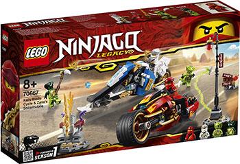 Конструктор Lego Мотоцикл-клинок Кая и снегоход Зейна 70667 Ninjago Legacy конструктор lego земляной бур коула 70669 ninjago legacy