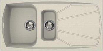 Кухонная мойка Smeg LSE 1015 P-2 кремовый (GRANITEK) мойка vstr34 2 smeg
