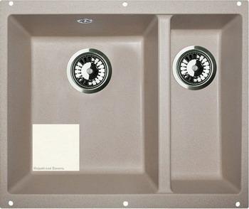 Кухонная мойка Zigmund amp Shtain INTEGRA 500.2 индийская ваниль кухонная мойка ukinox stm 800 600 20 6