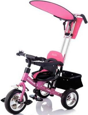 Велосипед с ручкой-толкателем Jetem Lexus Trike Next Generation розовый