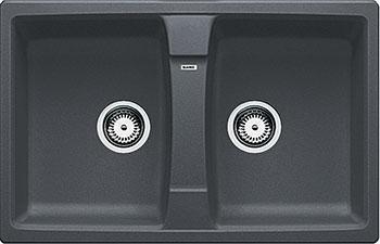 Кухонная мойка BLANCO LEXA 8 SILGRANIT темная скала сетевой фильтр pilot gl 3м 6 розеток белый