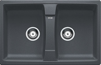 Кухонная мойка BLANCO LEXA 8 SILGRANIT темная скала мойка lexa 8 coffee 515063 blanco