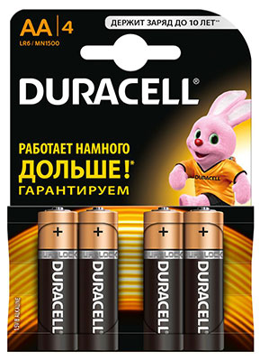 Батарейка Duracell LR6/MN 1500-4BL BASIC AA duracell cef14 4 hour charger