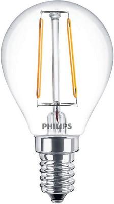 Лампа Philips LEDClassic 2-25 W P 45 E 14 WW CL APR лампа накаливания philips p45 60w e14 cl