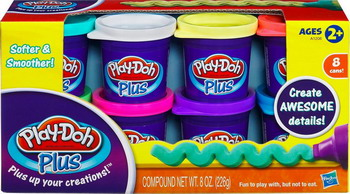 Пластилин Hasbro Play-Doh PLUS 8 баночек игрушка hasbro play doh c2860