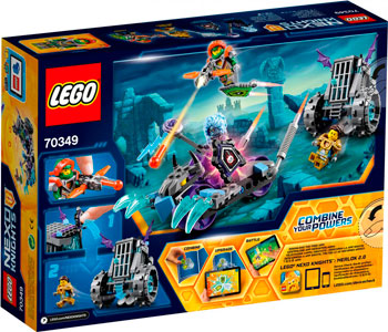 Конструктор Lego NEXO KNIGHTS МОБИЛЬНАЯ ТЮРЬМА РУИНЫ 70349 lepin nexo knights axl glob lobber combination marvel building blocks kits toys compatible legoe nexus