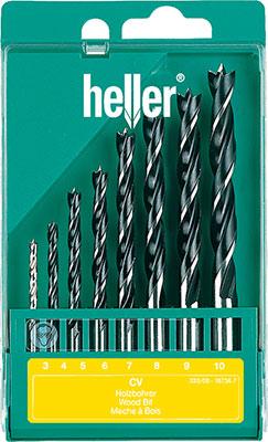Набор спиральных сверл Heller TD 18736 CV набор перовых сверл heller td 19069