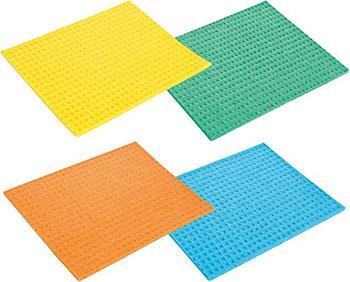 Губковые тряпки Tescoma CLEAN KIT 18 x 15 cм 4 шт. 900657 губки кухонные tescoma clean kit 3 шт с петелькой 900650