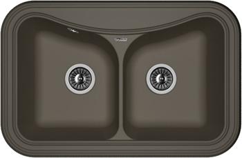 Кухонная мойка Florentina Крит-780 А 780х510 антрацит FSm кухонная мойка florentina касси 780 780х510 антрацит fsm