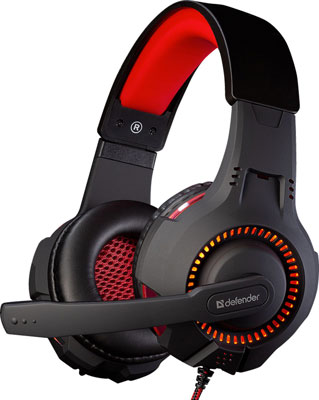 Игровая гарнитура Defender Warhead G-450 микрофон defender mic 142 64142