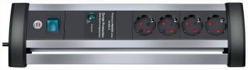 Сетевой фильтр Brennenstuhl Alu-Office-Line 1 8м 4 роз/заземл (1395000414) удлинитель бытовой brennenstuhl eco line 10 гн с заземл 3 м выключатель черный