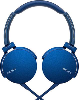 Наушники Sony MDRXB 550 APL.E синий
