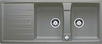 Кухонная мойка BLANCO LEXA 8S SILGRANIT серый беж с клапаном-автоматом  мойка lexa 8 s coffee 515064 blanco