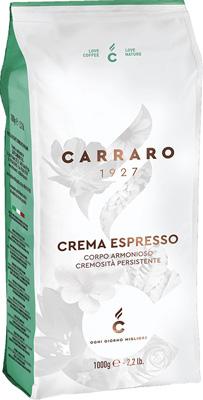 Кофе зерновой Carraro Crema Espresso 1 кг кофе зерновой carraro primo mattino