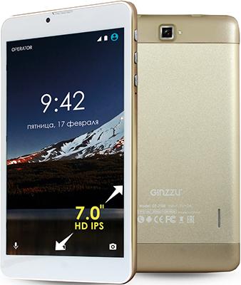 Планшет Ginzzu GT-7105 золотистый планшет ginzzu gt x770 black mtk8735m 1