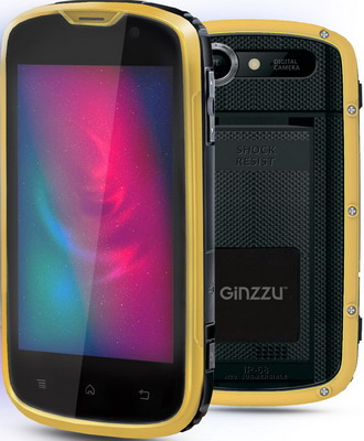 Мобильный телефон Ginzzu RS 71 D Black/Orange смартфон ginzzu s5050 black