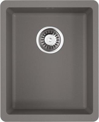 Кухонная мойка OMOIKIRI Kata 34-U-GR Artgranit/Leningrad Grey (4993383) смеситель для кухни omoikiri yamada gr leningrad grey 4994261