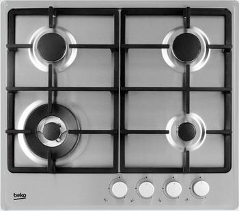 Встраиваемая газовая варочная панель Beko HIAW 64225 SX холодильник beko rcnk365e20zx двухкамерный нержавеющая сталь