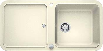 Кухонная мойка BLANCO YOVA XL 6S SILGRANIT жасмин с клапаном-автоматом InFino 523599 мойка кухонная blanco elon xl 6 s шампань с клапаном автоматом 518741