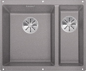 Кухонная мойка BLANCO SUBLINE 340/160-U SILGRANIT алюметаллик (чаша слева) с отв.арм. InFino 523550 blanco statura 160 u