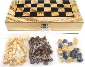 Шашки/шахматы/нарды Shantou Gepai W 4018-H каталка машинка shantou gepai веселая машинка пластик от 1 года на колесах разноцветный bb371a