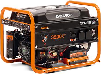Электрический генератор и электростанция Daewoo Power Products GDA 3500 DFE генератор бензиновый daewoo gda 3500e