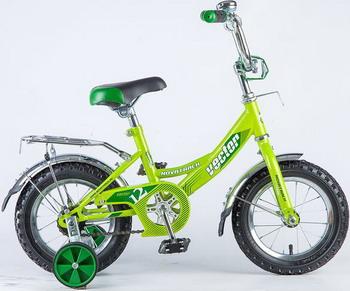 Велосипед Novatrack 12 VECTOR зелёный 123 VECTOR.GN8 зелёный цвет 3 6 months