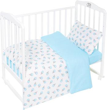 Комплект постельного белья Sweet Baby Gelato Turchese (Бирюзовый) 3 предмета asabella комплект постельного белья asabella евро 4 предмета белоснежный кружево eaibxtl