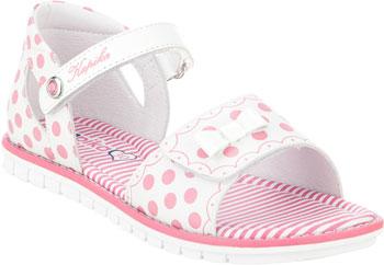 Туфли открытые Kapika 33282К-3 32 размер белый/розовый цена и фото