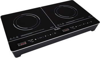 Настольная плита TESLER PI-23 черная индукционная электроплитка tesler pi 22 чёрный