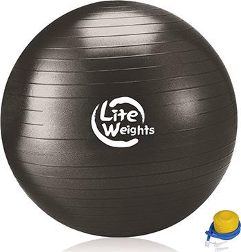 Мяч гимнастический Lite Weights 1869 LW (100см антивзрыв ножной насос черный) цена