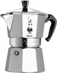 Гейзерная кофеварка Bialetti Moka express 3 персоны 1162 (алюминий)