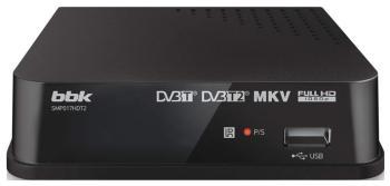 Цифровой телевизионный ресивер BBK SMP 017 HDT2 темно-серый