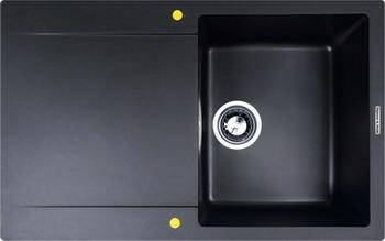 Кухонная мойка Zigmund amp Shtain RECHTECK 775 черный базальт кухонная мойка zigmund amp shtain eckig 800 черный базальт