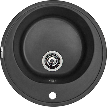 Кухонная мойка Zigmund amp Shtain KREIS 505 черный базальт мойка круглая стандарт d480х190мм черный гранит