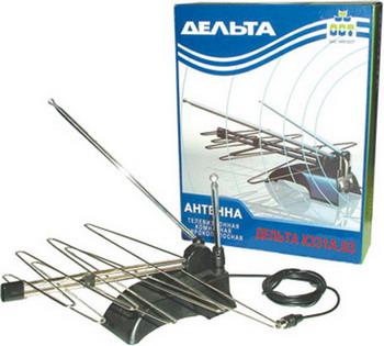 ТВ антенна DELTA К331А.03 всеволновая тв антенна дельта к331а 03 комнатная с усилителем черная