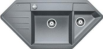 Кухонная мойка BLANCO LEXA 9E SILGRANIT алюметаллик  blanco lexa 9 e аллюметаллик