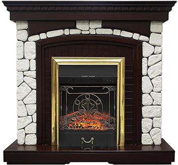 Каминокомплект Royal Flame Glasgow с очагом Majestic BR (темный дуб) каминокомплект royal flame alexandria с очагом majestic fx brass rb std3brfx белый дуб
