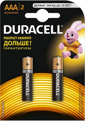 Батарейка Duracell LR 03/MN 2400-2BL BASIC AAA игрушка laq basic 2400 colors