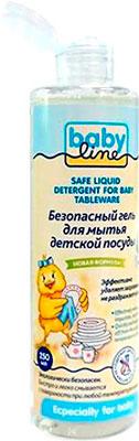 Моющее средство для детской посуды Babyline Гель безопасный для мытья детской посуды 250 мл гель для мытья посуды mako clean без запаха с серебром 400 мл
