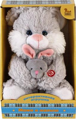 Мама и малыш Fluffy Family Зайка мягкая игрушка fluffy family мама и малыш овечка искусственный мех белый 26 см 681018