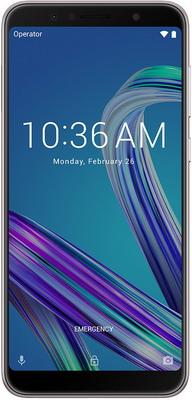 Мобильный телефон ASUS ZenFone Max Pro M1 ZB 602 KL 3/32 GB (90 AX 00 T2-M 00060) серебристый сотовый телефон asus zenfone max m1 zb555kl 16gb