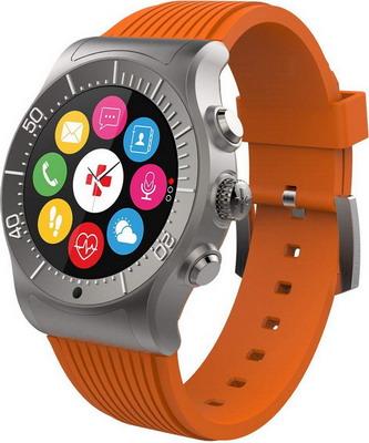 Часы MyKronoz ZeSport (KRZESPORT-ORANGE) титаниум/оранжевый цена и фото