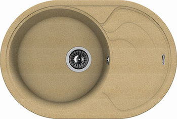 Кухонная мойка Florentina Родос-760 бежевый FG набор ополаскиватель r o c s double mint mouthwash