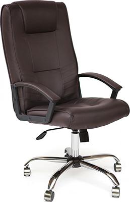 Офисное кресло Tetchair MAXIMA (хром кож/зам Коричневый PU C 36-36) кресло tetchair runner кож зам ткань черный жёлтый 36 6 tw27 tw 12
