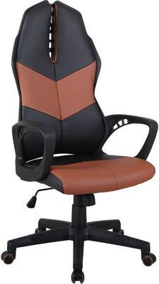 Кресло Tetchair iWheel кож/зам черный/коричневый кресло tetchair runner кож зам ткань черный жёлтый 36 6 tw27 tw 12